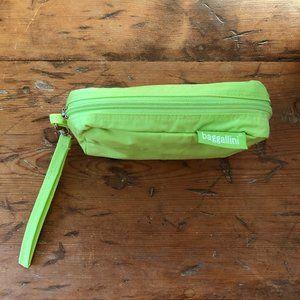 Baggalini Small Green Ripstop Nylon Cosmetic Case